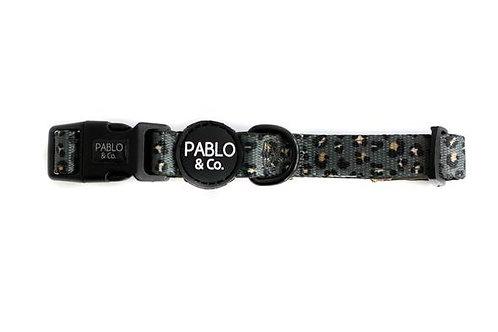 Pablo and Co Dog Collar - Khaki Leopard Large