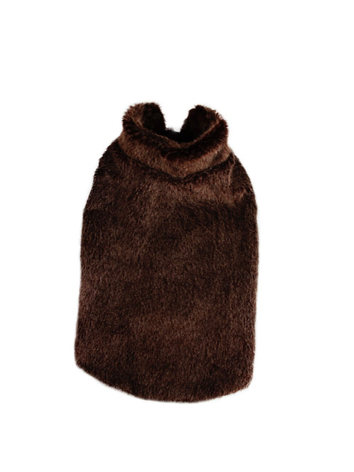 Dog Coat Brown Fake Fur