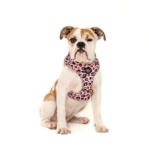 Pablo and Co Dog Harness - Pink Leopard Large