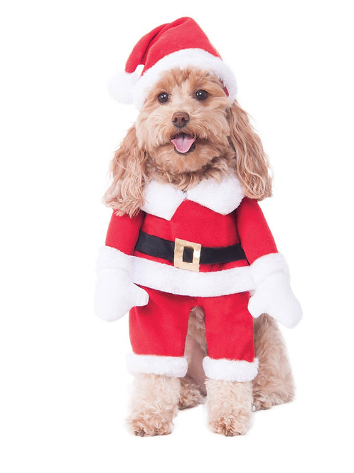 Walking Santa Dog Costume