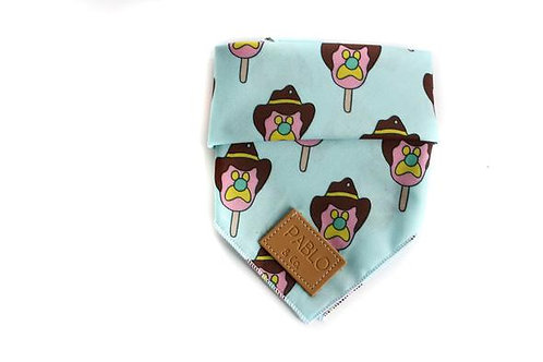 Pablo and Co Dog Bandana - Bubble O Bill, Size Large
