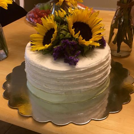 Fresh Floral Sunflower Birthday