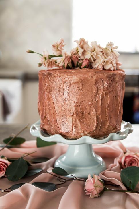 Rustic Rose Gold & Fresh Florals
