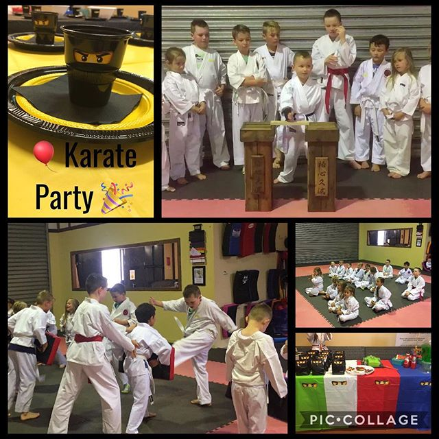 Best day celebrating a 6th birthday Karate Party Style!! #karatepartyfun #cuttingedgemartialartscent