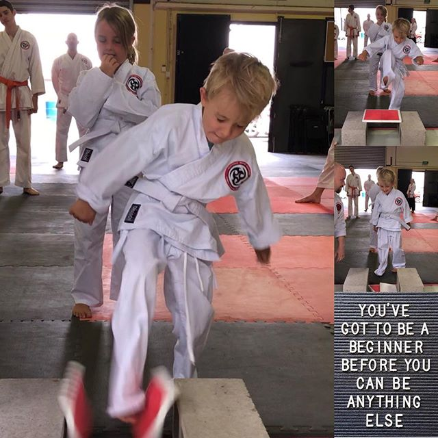 Focus and determination #cuttingedgemartialarts #kidskarate #karatekids #osu #proudsensei