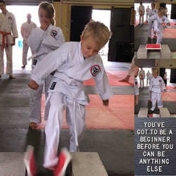Focus and determination #cuttingedgemartialarts #kidskarate #karatekids #osu #proudsensei