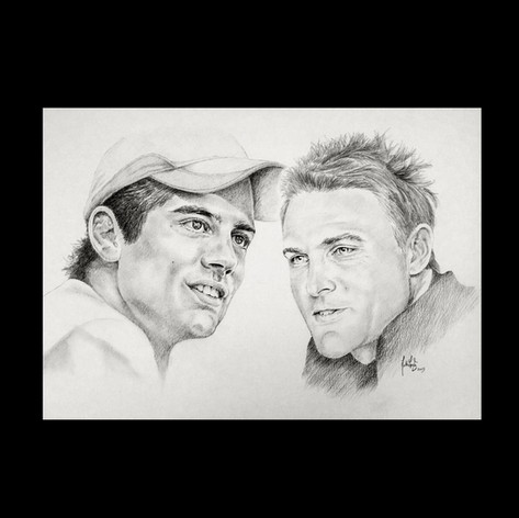 Sir Alistair Cook and Brendon McCullum