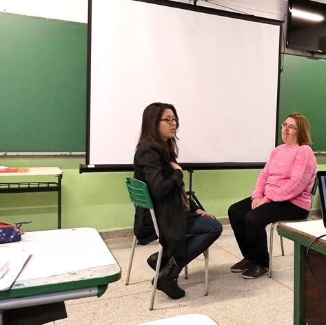 Palestra na Escola Estadual Américo Sugai