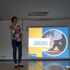 Palestra na ETEC Aprígio Gonzaga