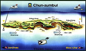 Chun-zumbul map Playa del Carmen