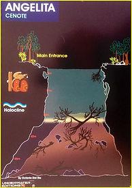 Mapa cenote Angelita | Riviera Maya