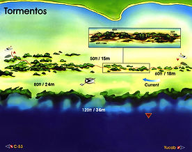 Tormentos map Cozumel