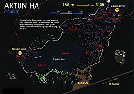 Mapa cenote Car Wash | Riviera Maya