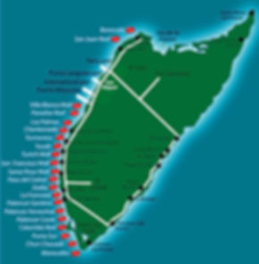 Cozumel dive sites map