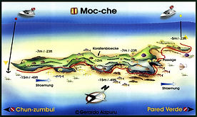 Moc-Che shallow map Playa del Carmen