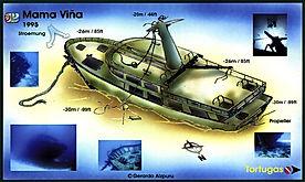 Mappa Mama Vina (relitto) | Playa del Carmen