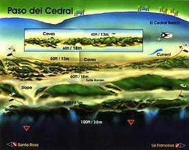 Paso del Cedral map Cozumel