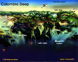 Colombia Deep map Cozumel