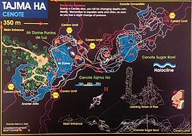 Mappa cenote Tajma Ha | Riviera Maya