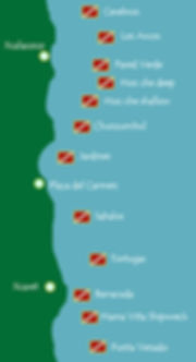 Playa del Carmen dive sites map