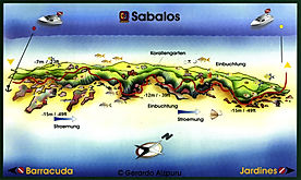 Sabalos map Playa del Carmen