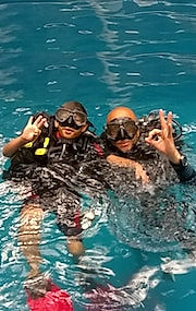 Ocean dive, PADI courses, divers