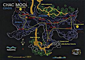 Mappa cenote Chac Mool | Riviera Maya