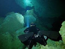 Jose Scaglia scuba diving in cenote