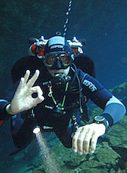 cenote, diving