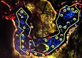 Mappa cenote Dreamgate | Riviera Maya