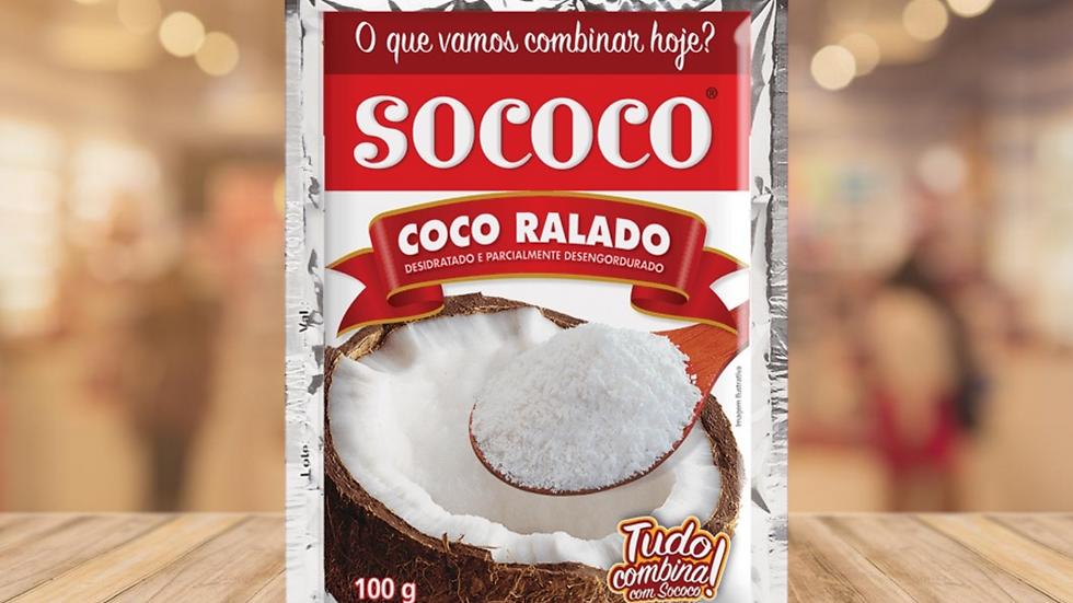 COCO RALADO DESIDRATADO SOCOCO - 100g