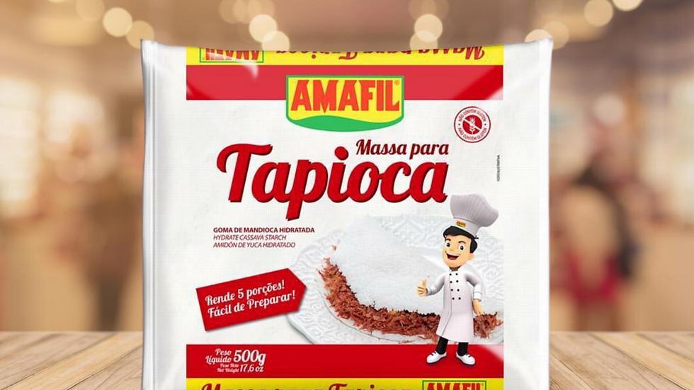 TAPIOCA MASSA PRONTA ÚMIDA AMAFIL - 500g