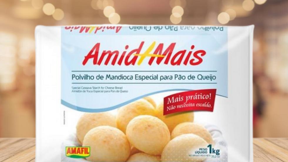 AMID +  - Polv escaldado 50% pao de queijo AMAFIL - 1KG
