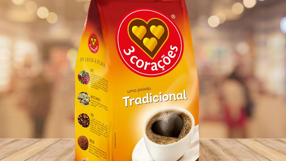 CAFÉ TRADICIONAL 3 CORAÇÕES - 500GR