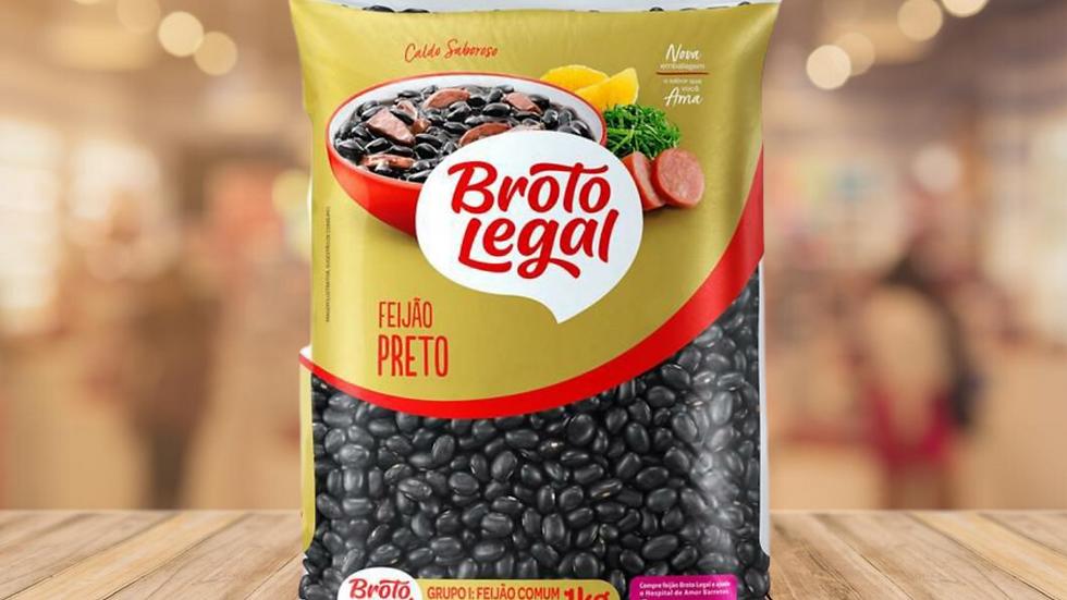 FEIJAO PRETO BROTO LEGAL - 1KG