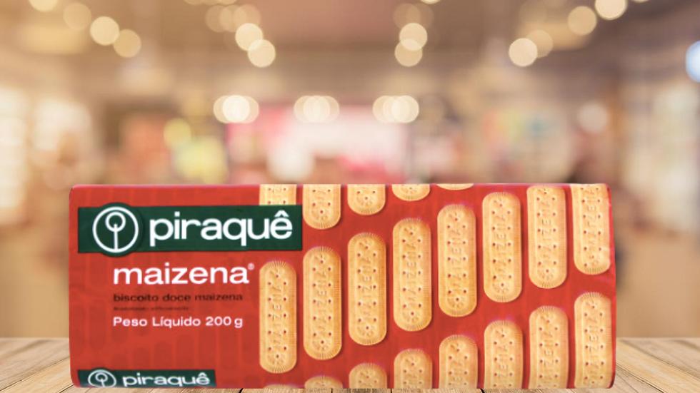 BISCOITO MAIZENA PIRAQUE - 200GR