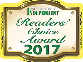 Attorney Byron P. David Finalist for Best Attorney in the 2017 Horry Independent Reader's Choice Awa