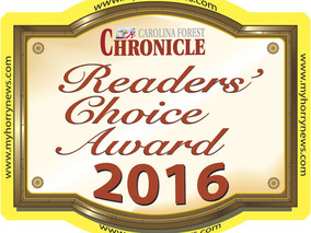 Attorney Byron P. David Finalist for Best Attorney in the 2016 Carolina Forest Chronicle Reader's Ch