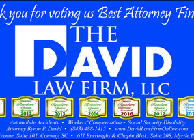 "Attorney Byron P. David Named ""Best Attorney"" Finalist by Myrtle Beach Herald Readers"