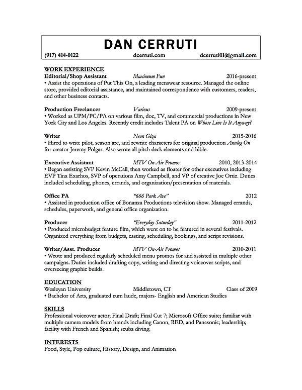 dan-cerruti | Resume