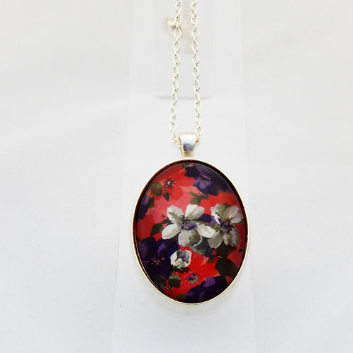 Autumn Florals Delicate Necklace