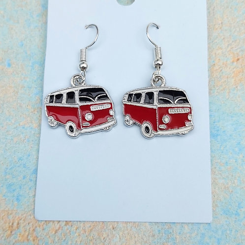Campervan Enamel Earrings