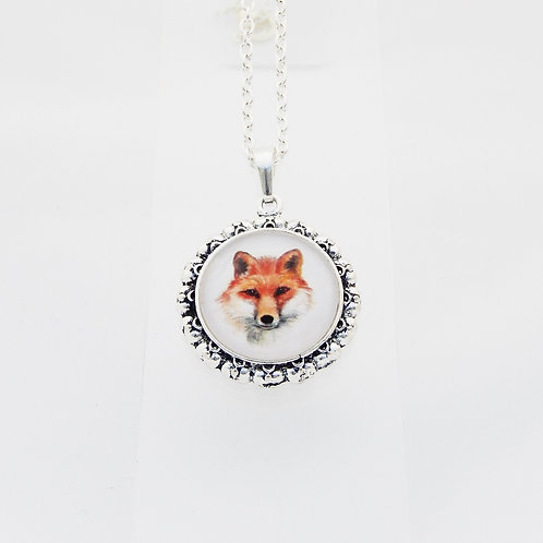 Fox Ornate Round Necklace