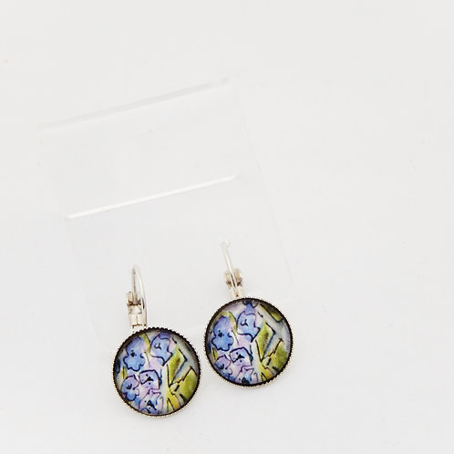 Summertime Lilacs Drop Earrings