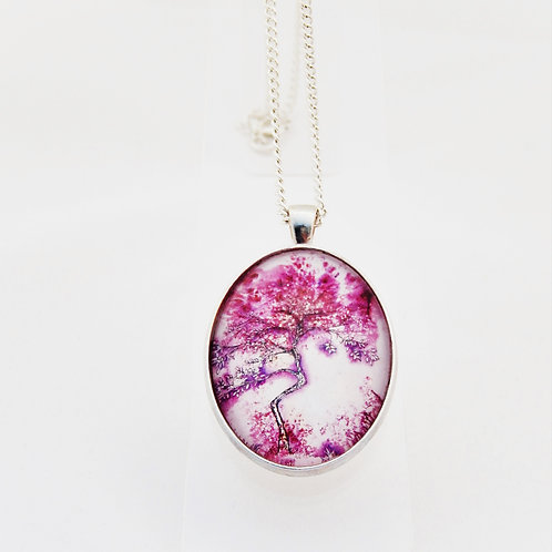 Purple Willow Delicate Necklace