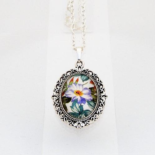 Briar Rose Lilac Mini Ornate Necklace