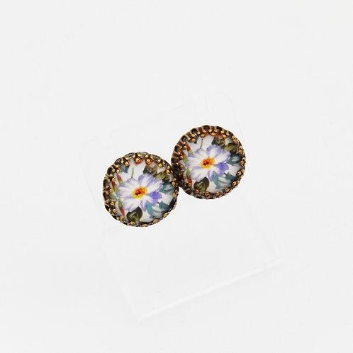 Briar Rose Lilac Stud Earrings
