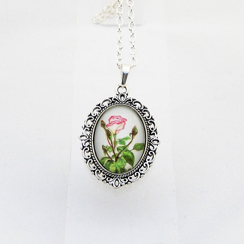 Mum's Rose Mini Ornate Necklace