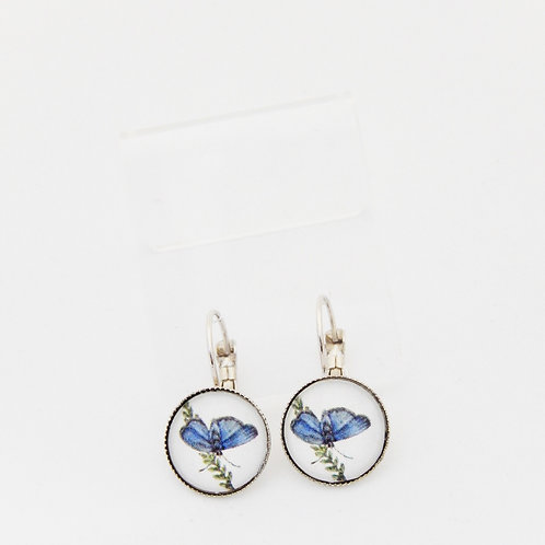 Blue Morpho Drop Earrings