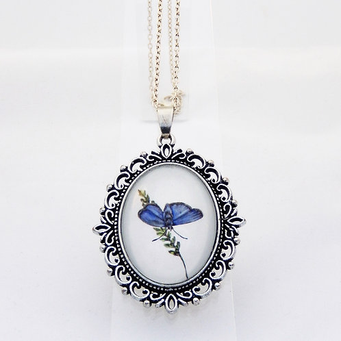 Blue Morpho Ornate Necklace